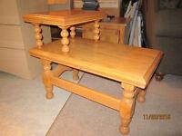 Solid Oak Hardwood End Table For Sale