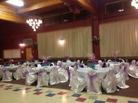 Table cloths and chair covers rental