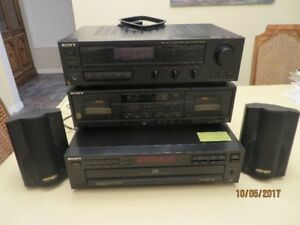 3 piece Sony stereo system plus speakers
