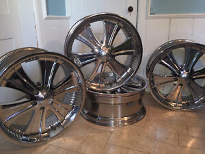Chrome rims 22'
