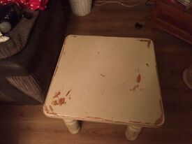 Distressed look coffee table
