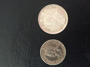 1919 .05 and .10 sterling silver coinage