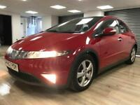 Honda Civic 1.8i-VTEC ES RED GLASS ROOF WARRANTY 12 MONTHS MOT FULL SERVICE HIST