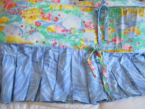baby crib bumper pads, pink/yellow/green/blue colours