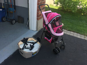 Pet car seat and stroller