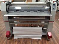 Laminator signage printing shop, business graphics car wraps large format stickers