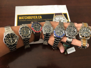 Watchbuyer.ca Buying all Rolex New, used, and Vintage for $$$$$$
