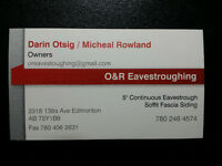 O&R Eavestroughing / Spring Special