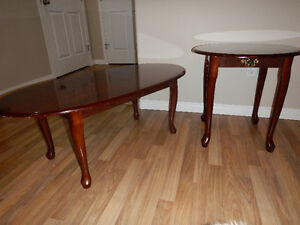 2 side tables and matching coffee table