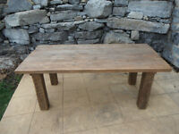 30 Modern / Rustic tables in stock !!!