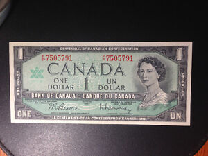 Lot of 8 1967 $1.00 Banknotes West Island Greater Montréal image 1