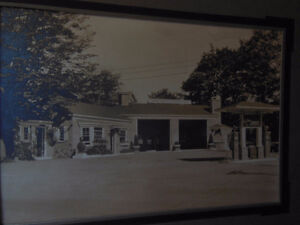 Rare B/W Photograph of Sunoco Service Station Digby, NS
