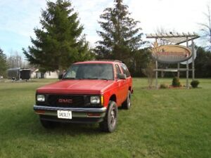 Rare 1991 2 Door GMC Jimmy S15 4X4 Stick shift 4.3l V-6 As Is
