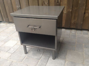 Small steel end table, bedside table or between two chairs