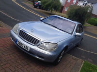 Mercedes W220 S500 LWB breaking all parts with private plate S500 ARL