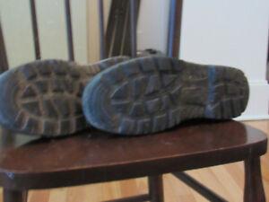 Steel toe Blundstone Boots.