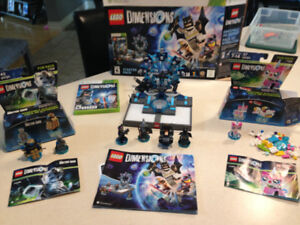 Xbox 360 Lego dimensions starter set, fun packs and team packs