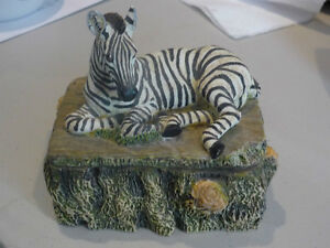 Unique Resin Zebra Collector's  Boxes
