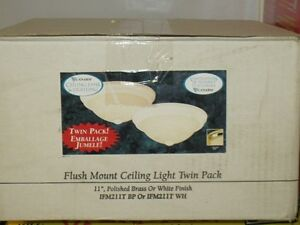 Flush Mount Ceiling Light Twin Pack 11""