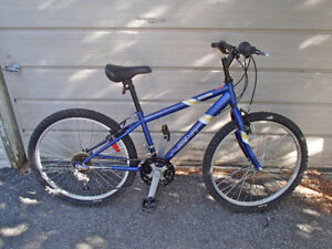 Mountain bike quite blue as you're five foot two
