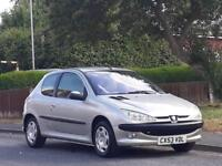 Peugeot 206 1.4 ( a/c ) 2003MY LX,1 OWNER FROM NEW,FULL 12 MONTHS MOT,LOW TAX