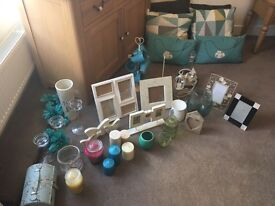 Job Lot Home Accessories Cushions, Candles, Frames etc