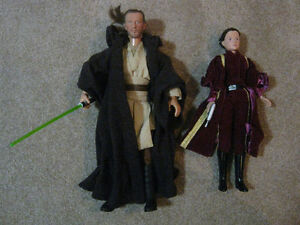 Star Wars 12 Inch Qui Gon Jinn and Queen Amidala Action Figures Strathcona County Edmonton Area image 1