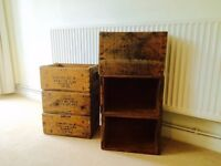 Wooden Boxes Crates 1970's