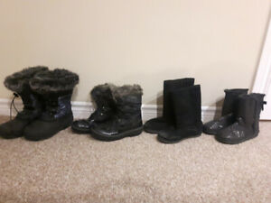 Various Girls' Winter Boots