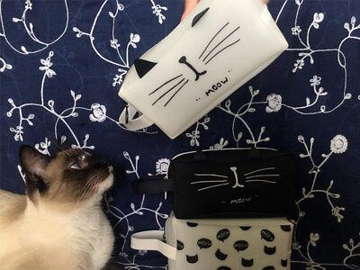 Silicone Cat Makeup Cosmetic Bag Pencil Bag Zipper Pen Pouch ](Cat Makeup)