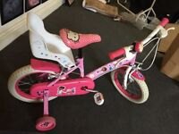 Girls bike for sale, bought from Halfords two years ago