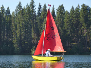 11 ft. Mirror sailboat, trailer/launching dolly for sale