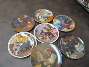11 Norman Rockwell Plates