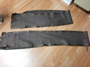 brown breathable bumper pads