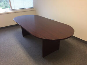 Mahogany/rosewood finish boardroom table - $200 or best offer