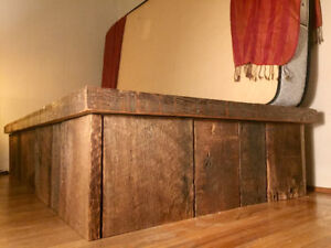 HAND MADE BED - RECLAIMED NORTH VAN HERITAGE HOME WOOD!!!!