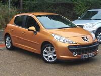 2008 Peugeot 207 1.6 16v 120 Auto Sport 5 Door Orange only 49,877 Miles FSH!!!!!