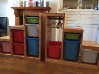 Ikea pine Trofast units... Toy storage