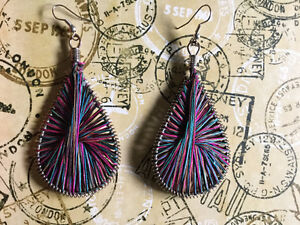 Handmade Big Teardrop Earrings