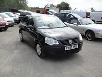 2007 Volkswagen Polo 1.2 E 5-door BLACK. Only 80,000 miles with FSH. 2 owners.