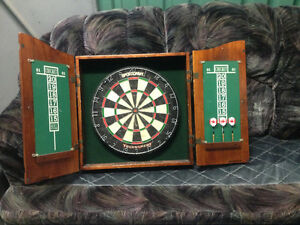 Dart board with cabinet $100.00 OBO