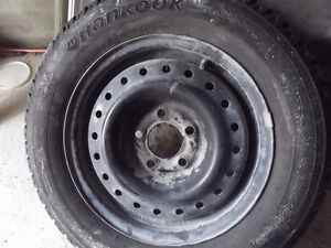 Four Brand New Steel Hankook Winter Tires on New Rims ( REDUCED St. John's Newfoundland image 4