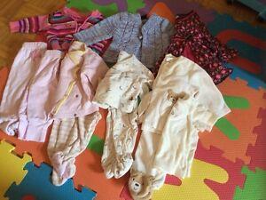 Lot vetements bébé fille 3-6 et 6-9 mois
