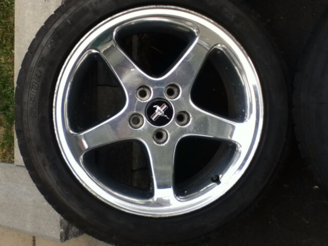 "Mustang Parts For Sale >> FOR SALE: 17""x8"" Genuine Cobra SVT Mustang Rims + Tires ..."
