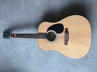 Acoustic Natural Wood Guitar