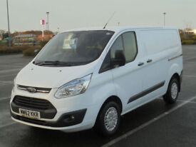 2012 62 FORD TRANSIT CUSTOM 2.2TDCi 125PS 270 L1H1 TREND PANEL VAN IN WHITE
