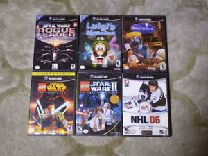 Various Gamecube games incl. Luigi's Mansion, Rogue Leader