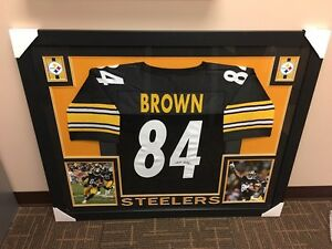 Antonio Brown Steelers - Framed Signed Jersey