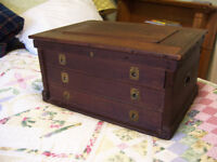Antique three drawer machinists chest