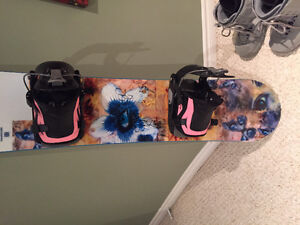 Woman's complete snowboard package